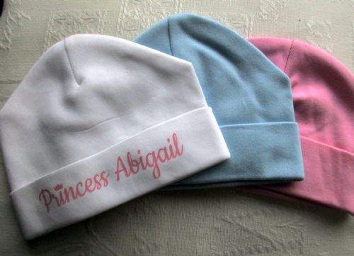 Personalised Baby Beanie Hats - Two Pack